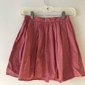 American Apparel Red Skirt